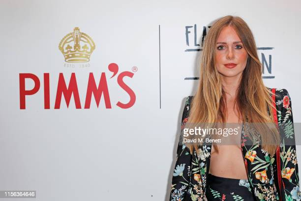 Diana Vickers celebrates the Pimm's Summer Garden at Flat Iron Square on July 18 2019 in London England