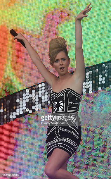 Diana Vickers performs at T4 on the Beach on July 4 2010 in WestonSuperMare England