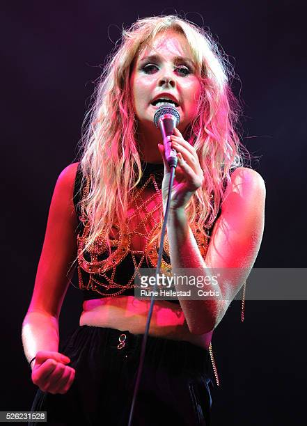 Diana Vickers performs at the V Festival in Hyland's Park