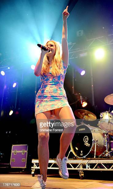 Diana Vickers performs on day 1 of the V Festival at Weston Park on August 17 2013 in Stafford England