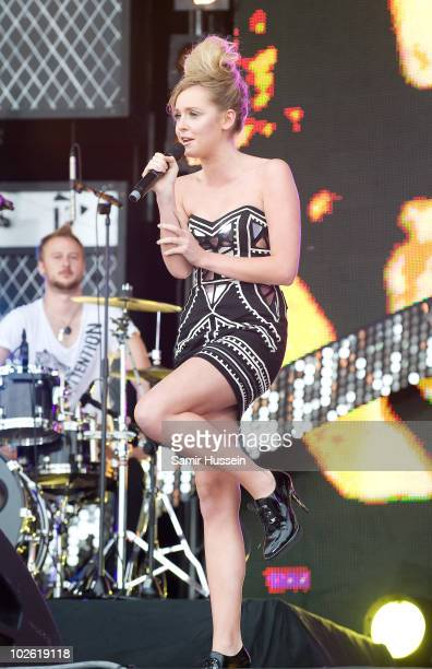 Diana Vickers performs on the main stage at T4 On The Beach on July 4 2010 in WestonsuperMare England