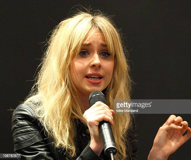 Diana Vickers plays an instore gig as part of River Island's live music events at River Island on November 12 2010 in London England