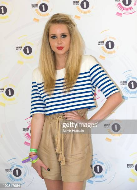 Diana Vickers poses on day 2 of Radio 1's Big Weekend on May 23 2010 in Bangor Wales