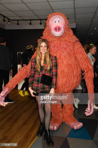 Diana Vickers poses with Missing Link's Susan at special screening of MISSING LINK to celebrate the Oscar® and BAFTA winning animation studio LAIKA...