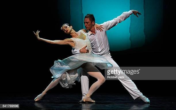 Diana Vishneva as Cinderella and Igor Kolb as The Prince in the Mariinsky Ballet's production of Alexei Ratmansky's Cinderella at the Festival...