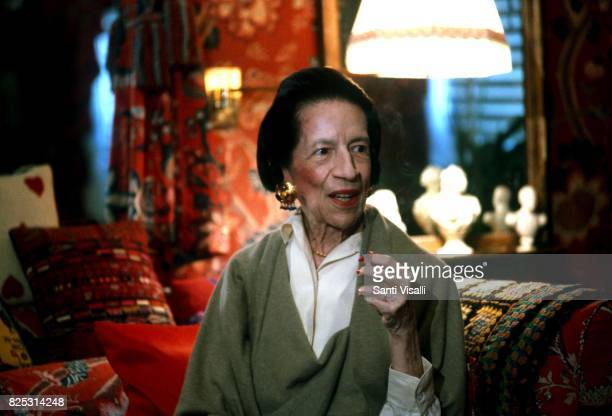 Diana Vreeland at home on July 15 1992 in New York New York