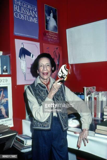 Diana Vreeland circa 1980 in New York City