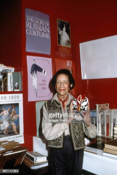 Diana Vreeland circa 1989 in New York