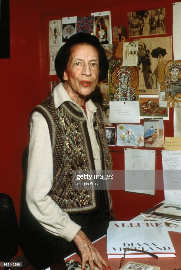 Diana Vreeland circa 1989 in New York.