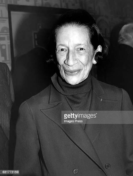 Diana Vreeland circa the 1970s in New York City