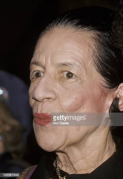 Diana Vreeland during Yves Saint Laurent Fashion Show At The Pierre Hotel 1974 at Pierre Hotel in New York City New York United States
