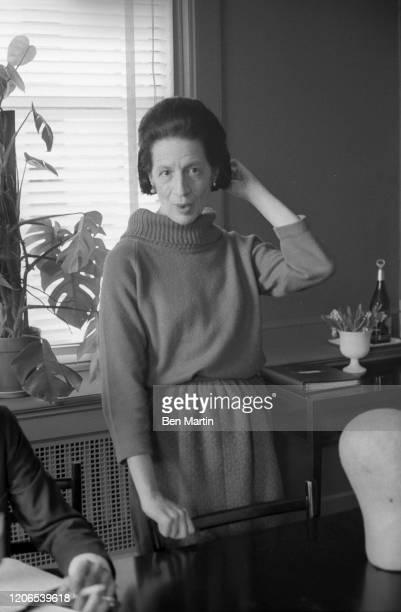 Diana Vreeland Fashion Editor of Harper's Bazaar in her office May 1 1953