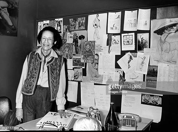 Diana Vreeland in her office circa 1980 in New York City
