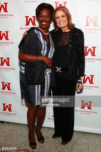 Diana Walsh and Gloria Steinem attend the Ms. Foundation for Women 2017 Gloria Awards Gala & After Party at Capitale on May 3, 2017 in New York City.