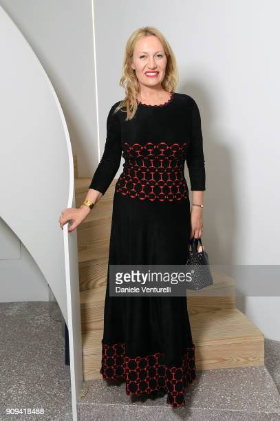 Diana Widmaier Picasso attends Mene 24 Karat Jewelry Presentation at Gagosian Gallery on January 23 2018 in Paris France
