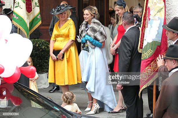 Diana Wilson Elisabeth princess von Thurn und Taxis attends the wedding of Maria Theresia Princess von Thurn und Taxis and Hugo Wilson at St Joseph...