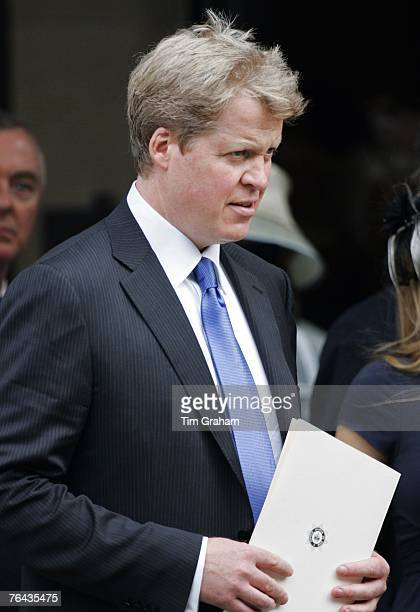 Diana's brother Charles Earl Spencer at the 10th Anniversary Memorial Service For Diana Princess of Wales at Guards Chapel at Wellington Barracks on...