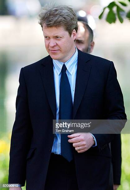 Diana's Brother Charles Earl Spencer At The Opening Of The Fountain Built In Memory Of Diana, Princess Of Wales In London's Hyde Park.