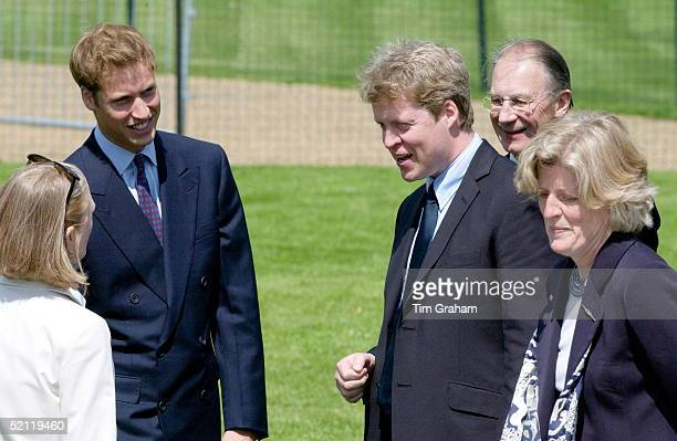 Diana's Brother Charles Earl Spencer Sister Lady Jane Fellowes And Prince William Chat With Kathryn Gufstafson The Designer Of The Diana Princess Of...
