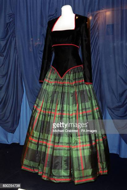 Dress created by designer Catherine Walker in 1990, worn by Diana, Princess of Wales for trips to Balmoral castle and at a gala to benefit the Royal...