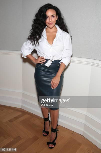 Diandra Barnwell attends the APNE Aap dinner on September 21 2017 in New York City