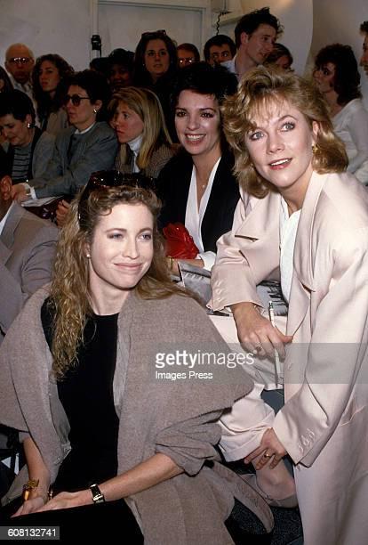 Diandra Douglas Liza Minneli and Kathleen Turner at Donna Karan fashion show circa 1987 in New York City