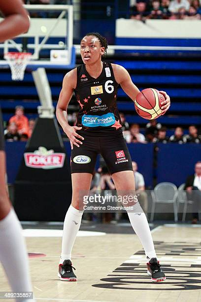Diandra Tchatchouang of Bourges Basket is trying to go to the basket during the game between ESB Villeneuve d'Ascq and Bourges Basket at Stade Pierre...