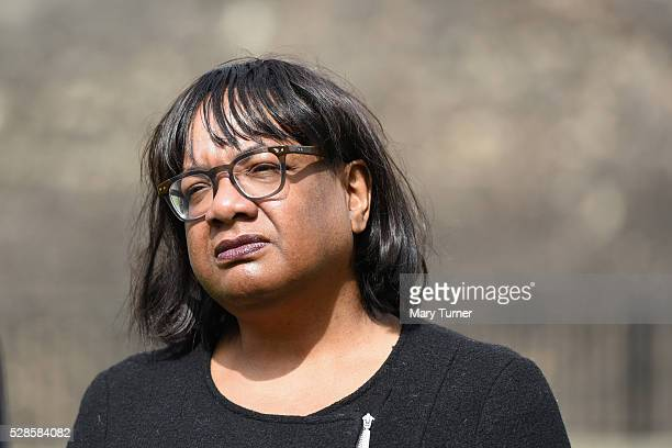 Diane Abbott gives her verdict on the Labour Party's performance in the Local Council and Assembly Elections at College Green Westminster on May 6...