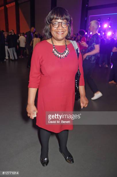 Diane Abbott MP attends the opening of the 'Soul Of A Nation Art In The Age of Black Power' exhibition at the Tate Modern on July 11 2017 in London...