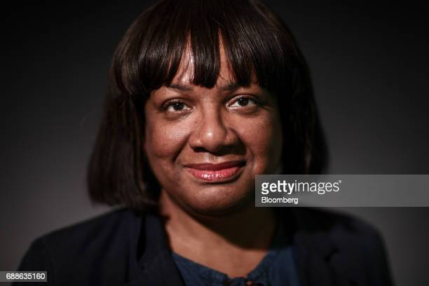 Diane Abbott UK opposition Labour Party home affairs spokesperson poses for a photograph following a Bloomberg Television Interview in London UK on...