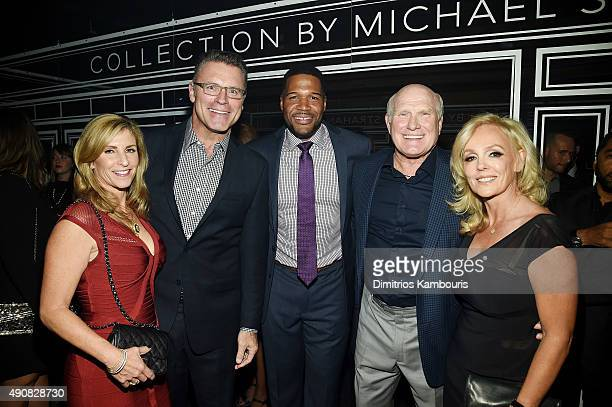 Diane Addonizio sportscaster Howie Long TV personality Michael Strahan sportscaster Terry Bradshaw and Tammy Bradshaw attend JCPenney and Michael...