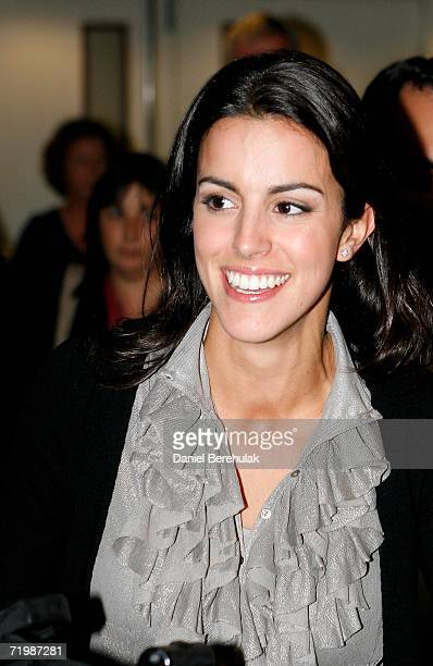 Diane Antonopoulos Luke Donald's fiancee arrives at Heathrow airport on September 25 2006 in London England