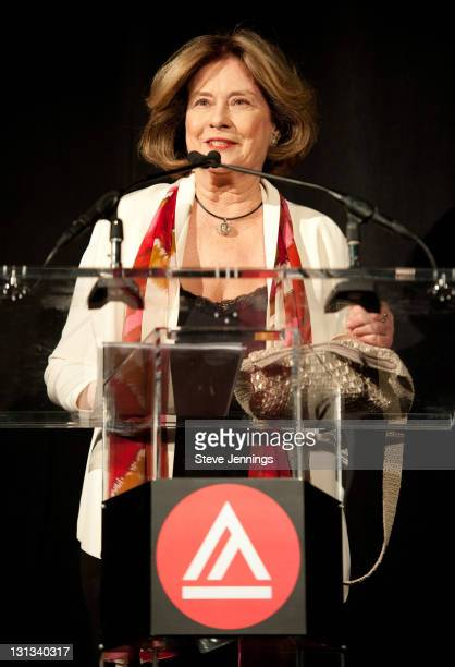 Diane Baker speaks to the audience at the Academy of Art University 5th Annual Epidemic Film Festival at Golden Gate Theatre on May 6 2011 in San...