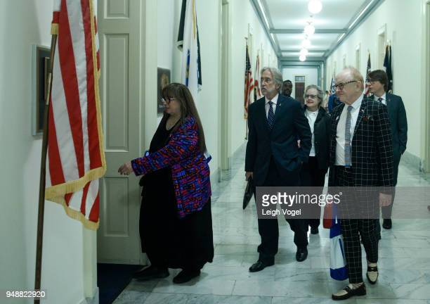 Diane Blagman Ruby Marchand Justin Roberts President of The Recording Academy Neil Portnow and producer and musician Peter Asher participate in The...