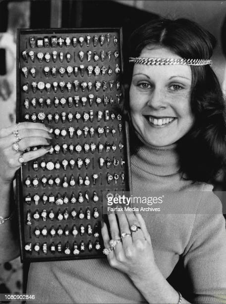 Diane Bruder 22 of Strathfield displays part of Prouds $2Million diamond collection largest diamond collection in Australia which will be offered for...
