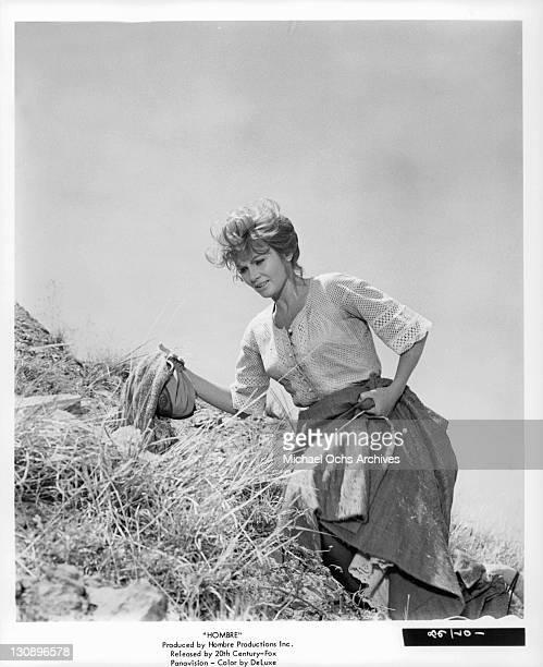 Diane Cilento in a scene from the film 'Hombre' 1967