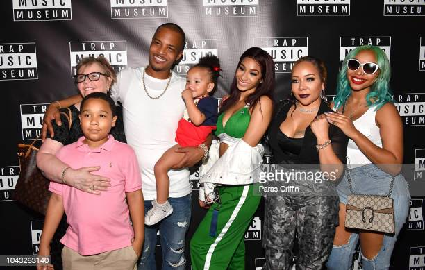Diane CottlePope Major Harris TI Heiress Harris Deyjah Harris Tameka Tiny Harris and Zonnique Pullins attendTrap Music Museum VIP Preview at Trap...