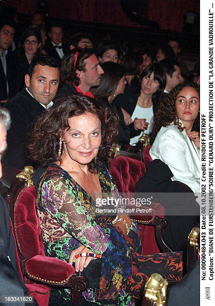 Diane De Furstenberg 'Gerard Oury' film screening of 'La Grande Vadrouille' at the Garnier opera