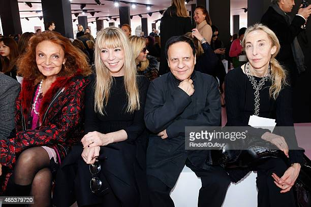 Diane de Furstenberg Victoire de Castellane Azzedine Alaia and Carla Sozzani attend the Christian Dior show as part of the Paris Fashion Week...