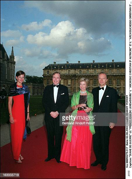 Diane De Guerre 'Prince Jean De Luxembourg' 'archduke Christian of Austria' and 'archduchess MarieAstrid of Austria' dinner to the benefit of the...