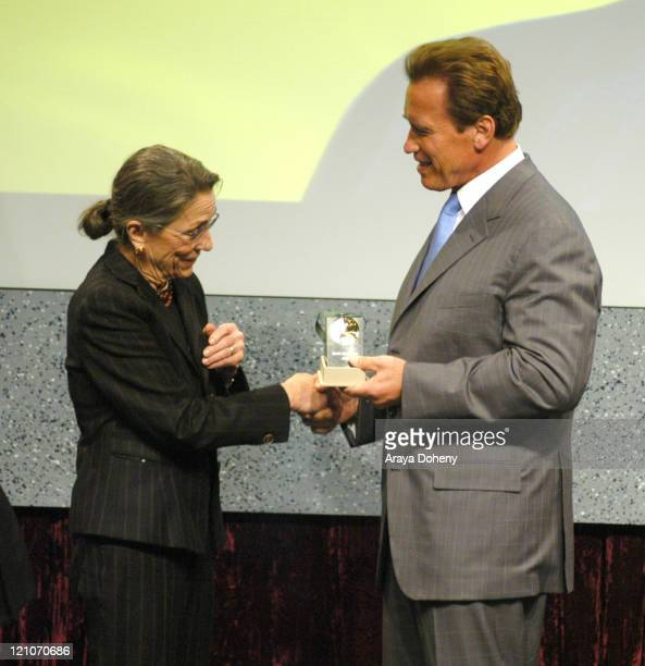 Diane Disney Daughter of Walt Disney Recipient of the FirstEver California Hall of Fame and Governor Arnold Schwarzenegger