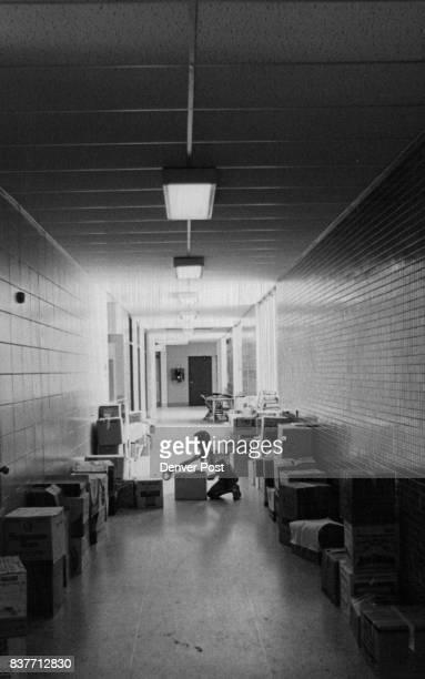 JUN 10 1971 JUN 11 1971 JUN 16 1971 5# Diane Doehler marking boxes in hallway Diane Doehler marks books in hallway Diane a fifth grader stayed after...