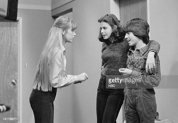 HELLO LARRY Diane Drinks Episode 13 Aired Pictured Kim Richards as Ruthie Alder Donna Wilkes as Diane Alder John Femia as Tommy Roscini Photo by NBCU...