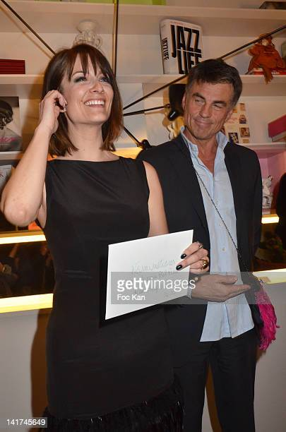 Diane Ducret and Bruno Gaccio attend the 'Prix Bel Ami 2012' Women Literary Awards at the Hotel Bel Ami on March 22 2012 in Paris France