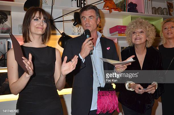 Diane Ducret Bruno Gaccio and Elisabeth Reynaud attend the 'Prix Bel Ami 2012' Women Literary Awards at the Hotel Bel Ami on March 22 2012 in Paris...