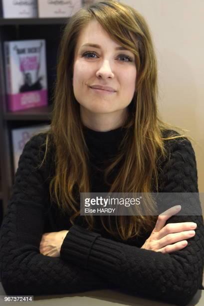 Diane Ducret le 19 mars 2016 lors du salon 'Livre Paris' France