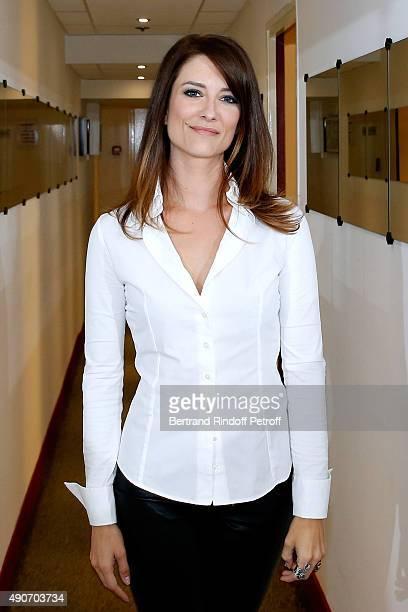 Diane Ducret presents her Book L'Homme ideal existe Il est Quebecois during the 'Vivement Dimanche' French TV Show at Pavillon Gabriel on September...