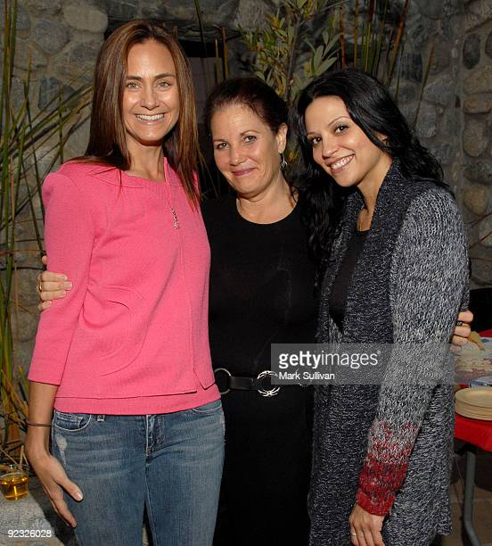 Diane Farr Arlene Samen and Navi Rawat attend the One HEART event on October 24 2009 in Malibu California
