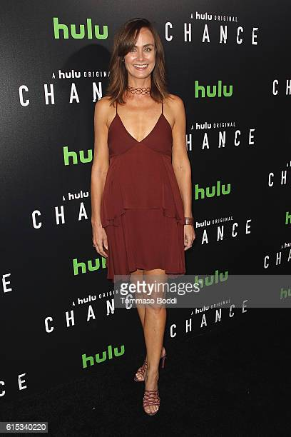 Diane Farr attends the premiere of Hulu's 'Chance' held at Harmony Gold Theatre on October 17 2016 in Los Angeles California
