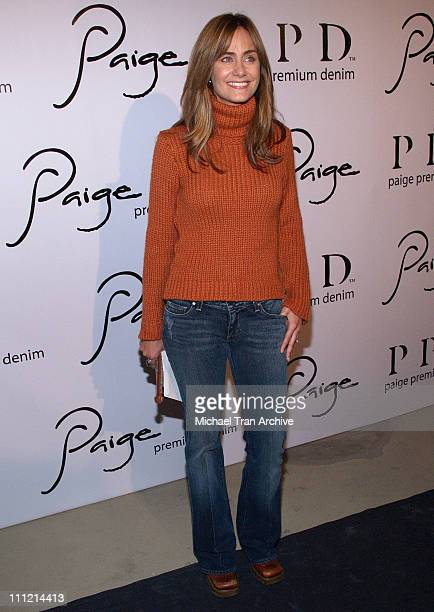 Diane Farr during Paige Denim Boutique Opening Arrivals at Paige Boutique in Beverly Hills California United States
